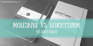 leuchtturm 1917 notebook moleskine vs leuchtturm the great debate boho berry