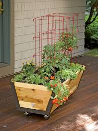 rolling u garden planter with watering system gardeners com