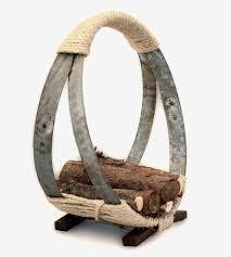 wine barrel hoop firewood rack home decor u0026 lighting o u0027floinn