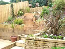 patio splendid landscaping ideas for hillside backyard slope