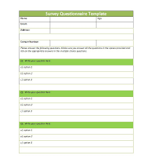 template of questions 30 questionnaire templates word template lab