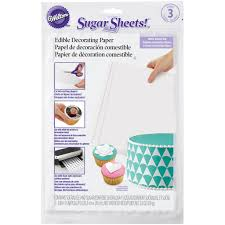 find the wilton sugar sheets edible decorating paper white at