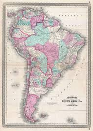Patagonia South America Map File 1870 Johnson Map Of South America Geographicus