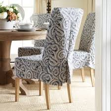 Peaceful Design Dining Chair Cover Chair Covers Amp Slipcovers - Short dining room chair covers