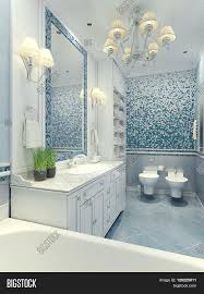 Bright Furniture Colors Bright Bathroom Classic Style Luxury Chandelier Mirror White