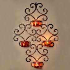 gifts for home decor exclusivelane wall scone with 4 tea lights holders with metal finish