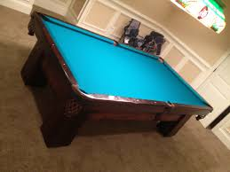 Used Pool Table by 3 Piece Slate Pool Table Assembly Shocking On Ideas With Coin