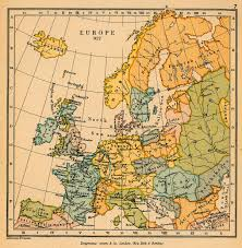 Map Of Europe 1945 by