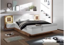 Schlafzimmer Mit Metallbett Schlafzimmer Wildeiche Weiss Mit Bettanlage Und Beleuchtung Woody