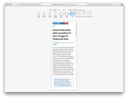 test a site for mobile with safari responsive design mode