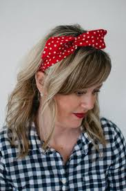 wire headband dolly bow with white polka dots wire headband