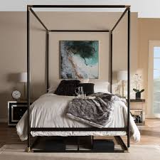 Canopy Bedding Wholesale Interiors Baxton Studio Canopy Bed Reviews