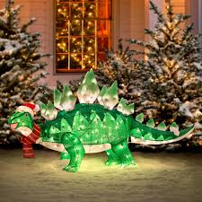 christmas lawn decorations dino lawn decoration things