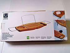 umbra aquala bathtub caddy umbra bath bathtub caddies storage equipment ebay