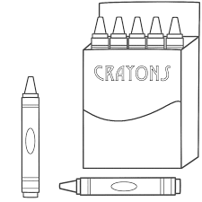crayon themed coloring page theme pinterest crayons