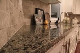 Backsplash For Granite by Caledonia Brown Granite