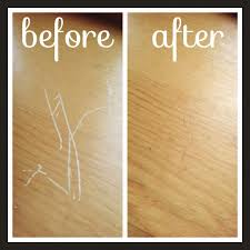 Remove Scratches From Laminate Floor Use A Cashew Almond Walnut To Fix Scratches On Wood I Rubbed