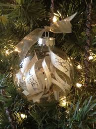 wedding memory capsule christmas ornament clear glass ornament