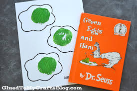 potato stamped green eggs w free printable template glued to my