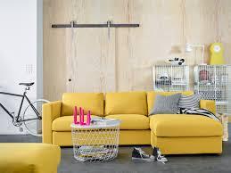Ikea Sofa Chaise Lounge by Vimle 4 Zitsbank Met Chaise Longue Orrsta Goudgeel Living