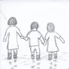 three toddlers holding hands by kamali haru on deviantart