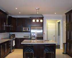 Kitchen Cabinets Espresso Shaker Style Espresso Kitchen Cabinets Light Floors Light