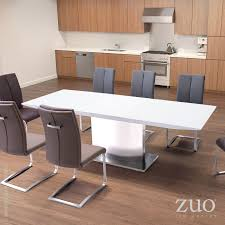 pierrefronds extension dining table white 107860 zuo mod