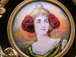 Gilt Bonze Enameled Portrait Antiques Antiques Misc 2b