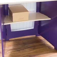 no tools assembly kids desk purple u0026 wh walmart com