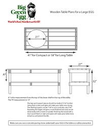 xl big green egg table plans pdf image result for big green egg table plans egg table pinterest