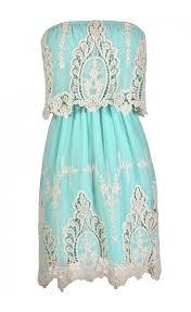 aqua and ivory dress cute aqua dress cute summer dress aqua