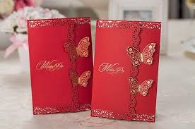Wedding Invitations Free Samples Chinese Wedding Invitations Cards Personalized Red With Gold Stamp