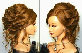 romantic bridal wedding hairstyle for long hair tutorial youtube