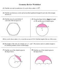 circles geometry review worksheet 10th grade worksheet lesson