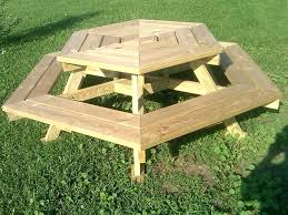 picnic table plans detached benches round picnic table s plans detached benches octagon lowes bench
