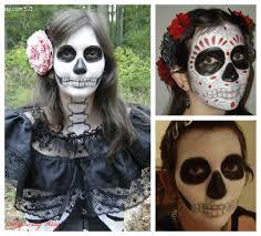 beauty dia de los muertos skull makeup