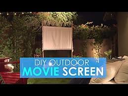 How To Make A Backyard Movie Screen by Easy Diy Outdoor Movie Screen Hgtv Youtube