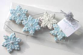 snowflake cookies mini snowflake cookies gift sets snowflakes cookies by
