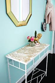 Turquoise Entry Table by Project Restyle Gold Marbled Entryway Table U2013 A Beautiful Mess