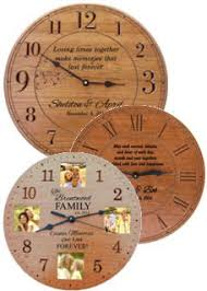 personalized anniversary clocks anniversary gifts personalized engraved clocks