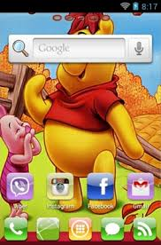 winnie pooh android theme launcher androidlooks