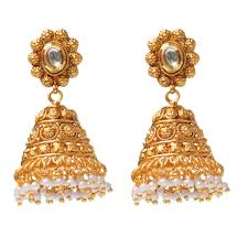 gold jhumka earrings jhumka earrings buy jhumkas online buy jhumka earrings online