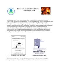 certified wood stoves docshare tips