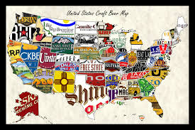 States Map Of Usa by Usa Craft Beer Map Websize Swiftmaps Com