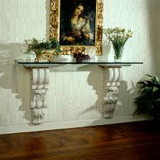 Lg Pedestal Brackets Console Bracket With Scroll Planters Fine Cast Stone Urns