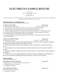 sample electrical resume electricians sample resume 5 electrical