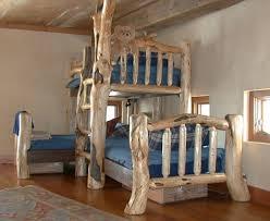 Pine And Fir Custom Triple Bunk Bed Pine And Fir Logs Were - Log bunk beds