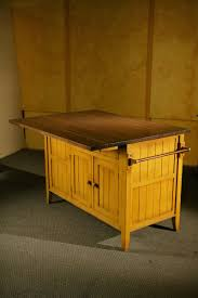 Custom Made Kitchen Islands by Hand Made Kitchen Island Mustard Base With Antique Walnut Finish