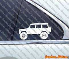 lifted bmw 2x lifted offroad stickers for mercedes g class g wagen