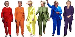 what is the story clinton s pantsuits why are they